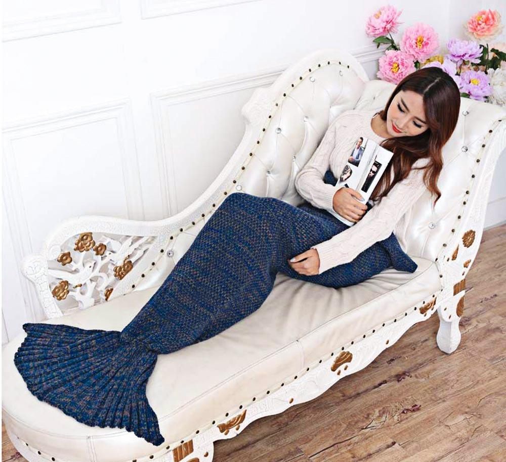 Cobija Cola De Sirena Tejidas Crochet Manta - $ 925.27 en Mercado Libre