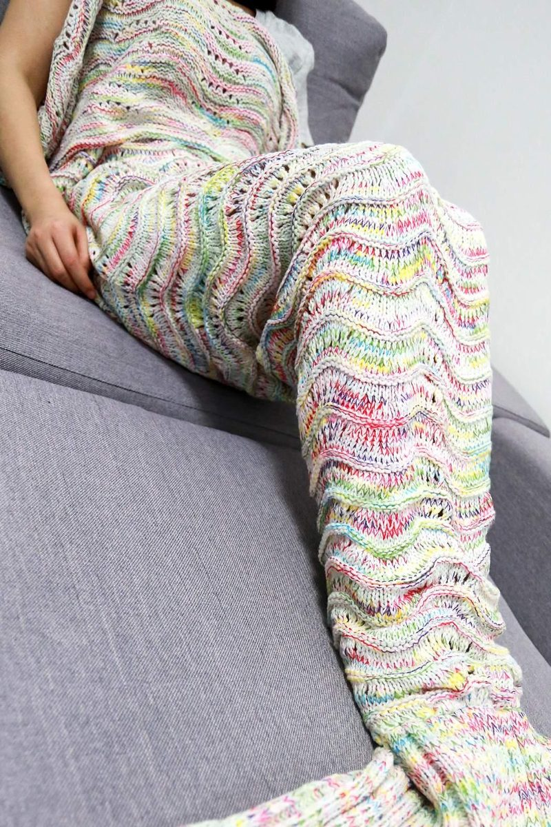 Cobija Cola De Sirena Tejidas Crochet Manta Envío Gratis - $ 332.33 ...