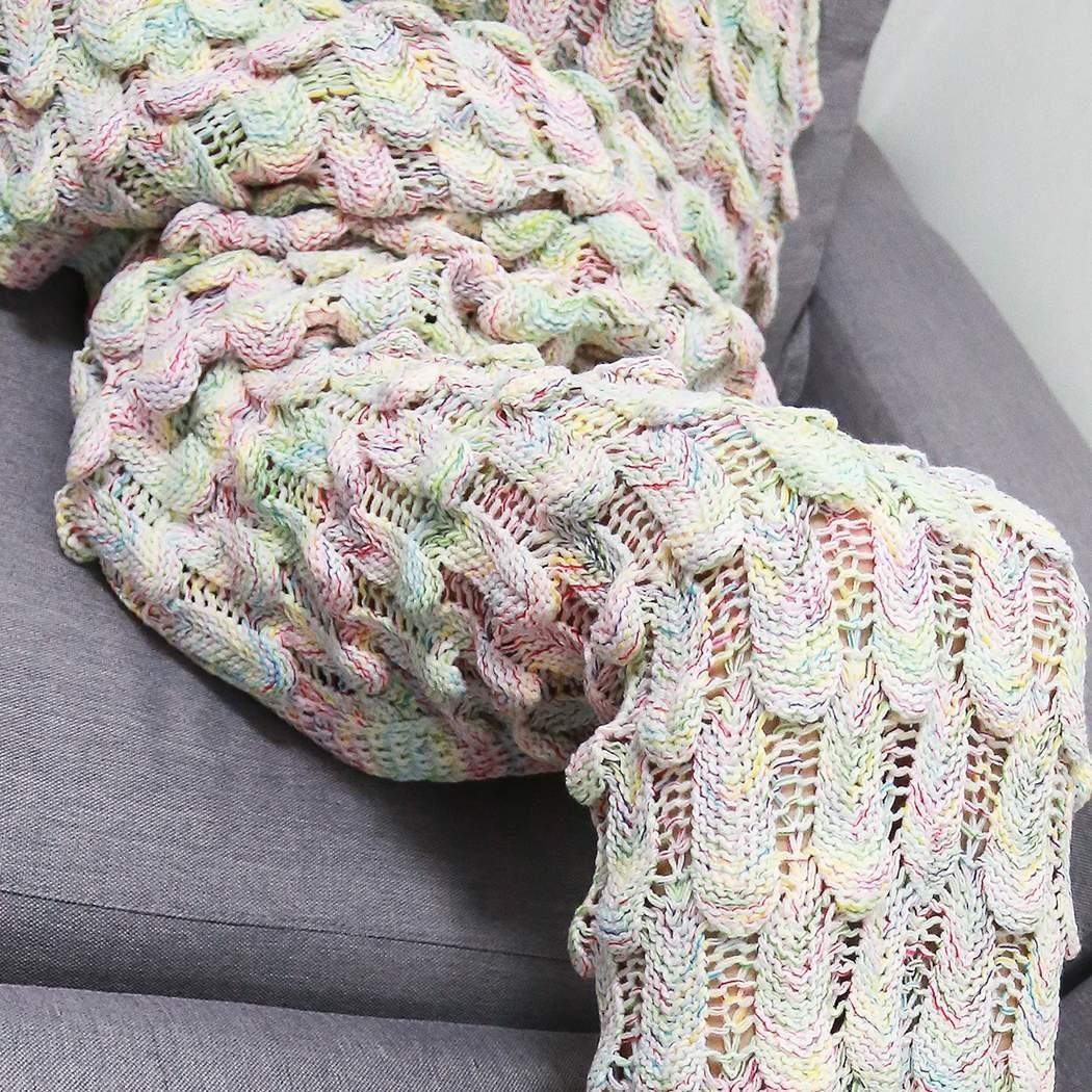 Cobija Cola De Sirena Tejidas Crochet Manta Envío Gratis - $ 372.82 ...