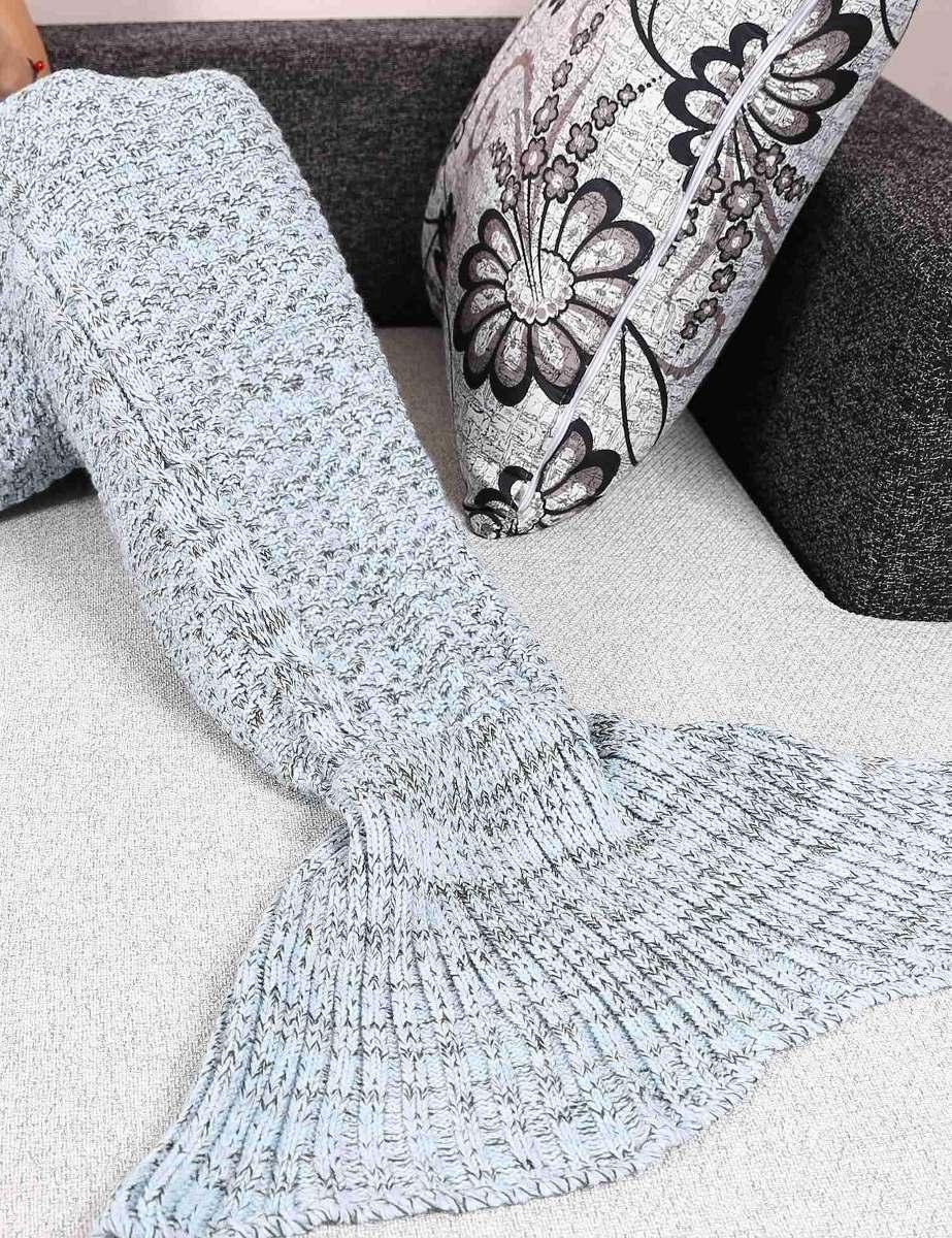 Cobija Cola De Sirena Tejidas Crochet Manta Envío Gratis - $ 525.05 ...