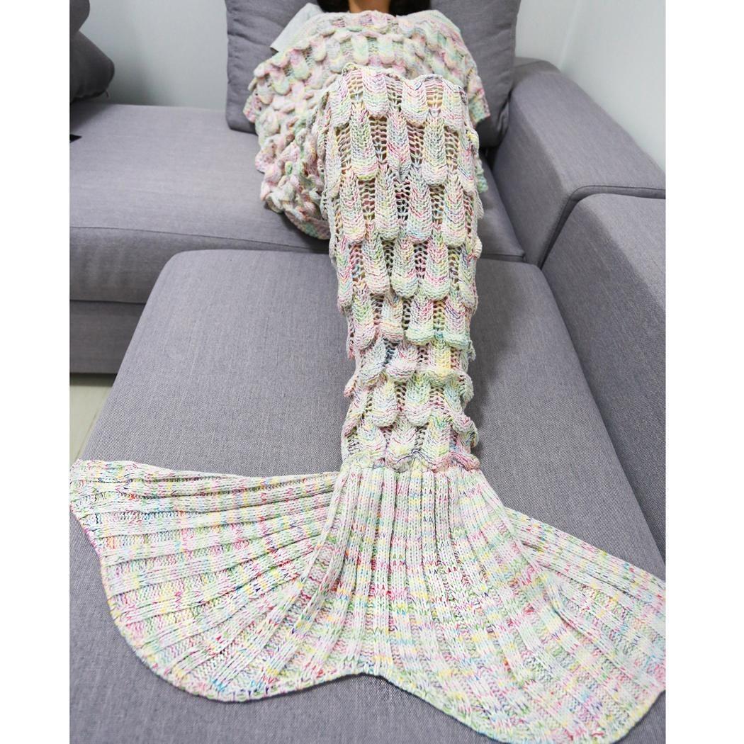 Cobija Cola De Sirena Tejidas Crochet Manta Envío Gratis - $ 503.09 ...