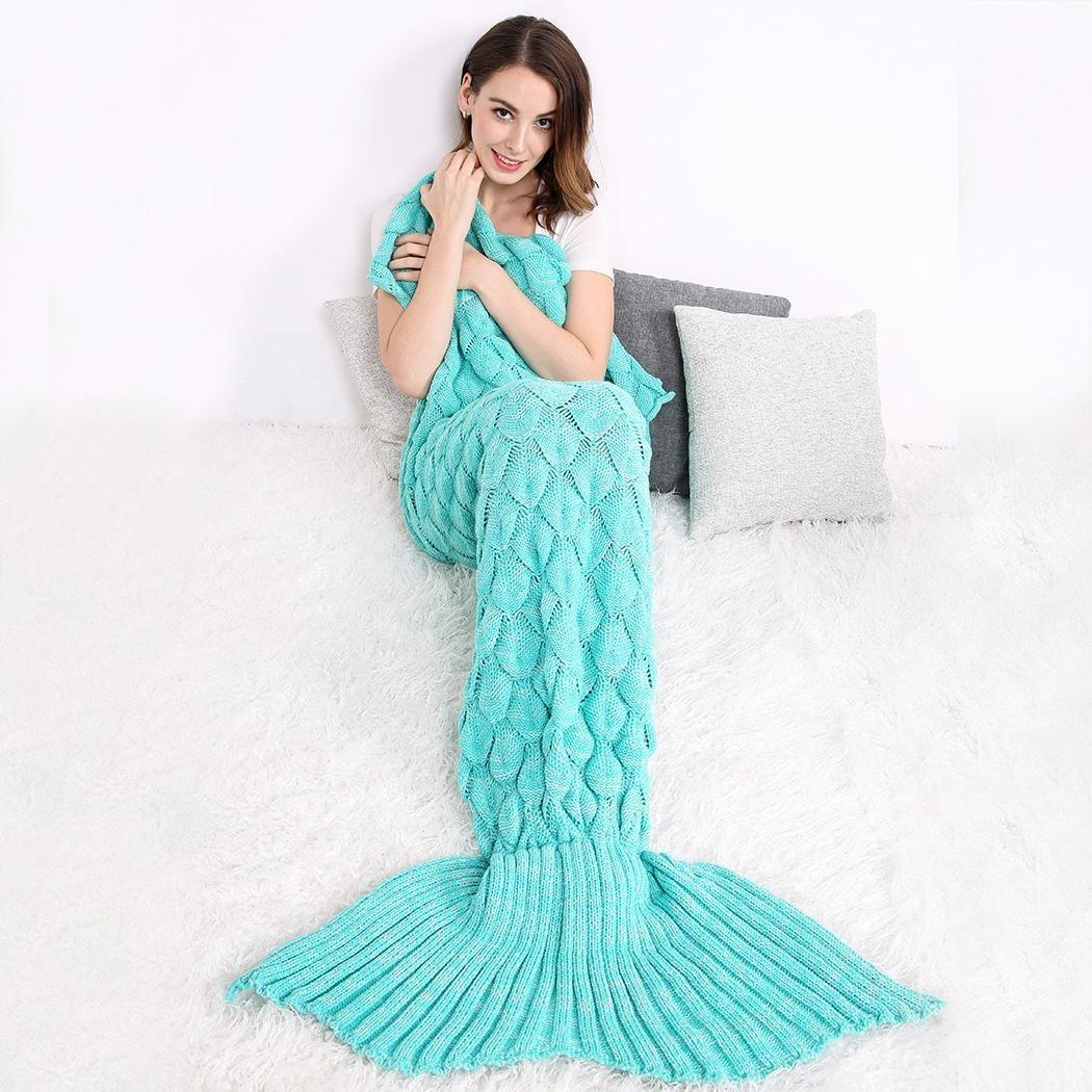Cobija Cola De Sirena Tejidas Crochet Manta Envío Gratis - $ 60.189 ...