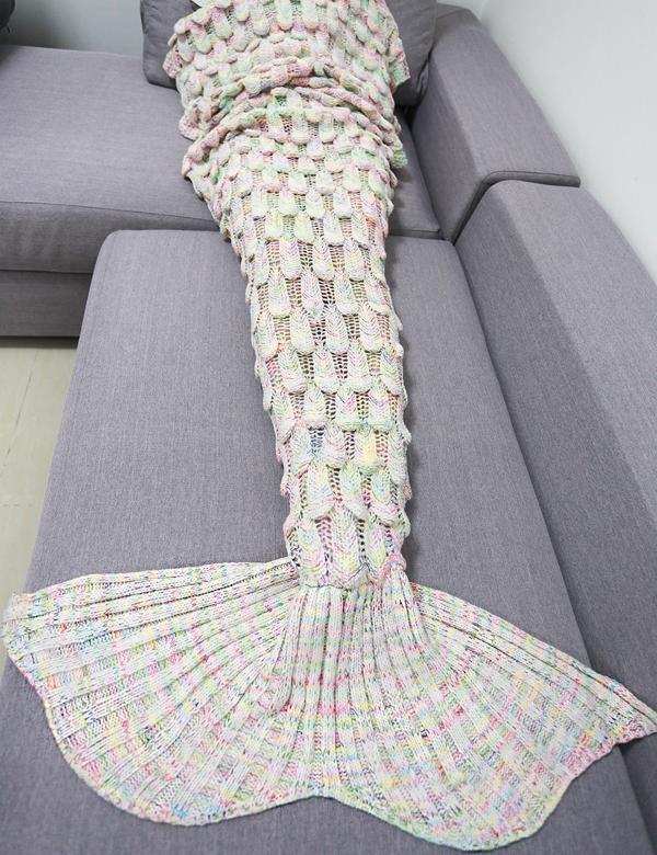 Cobija Cola De Sirena Tejidas Crochet Manta Envío Gratis - $ 61.765 ...