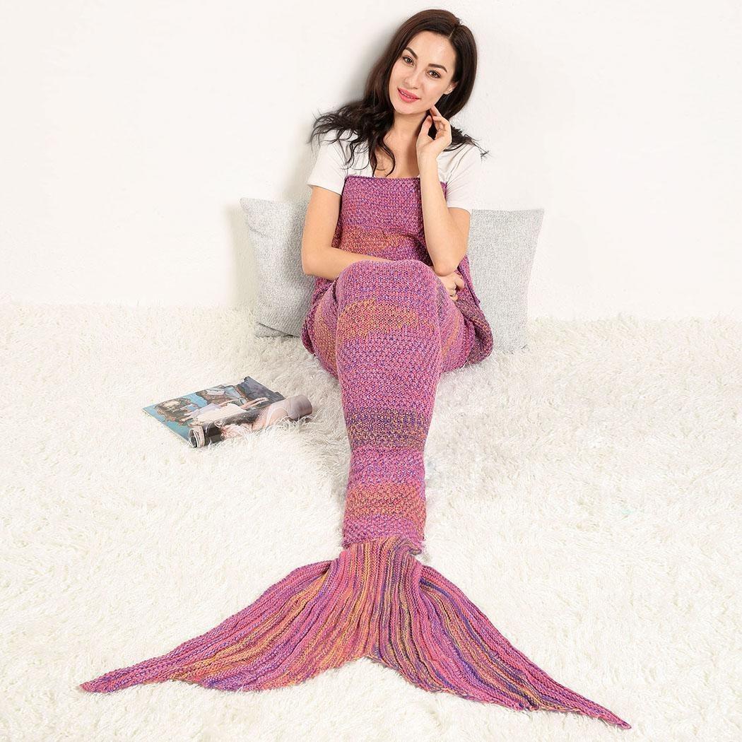 Cobija Cola De Sirena Tejidas Crochet Manta Para Adultos - $ 339.09 ...