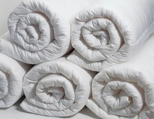 cobija edredon plumon duvet plumas de ganso blanco importado