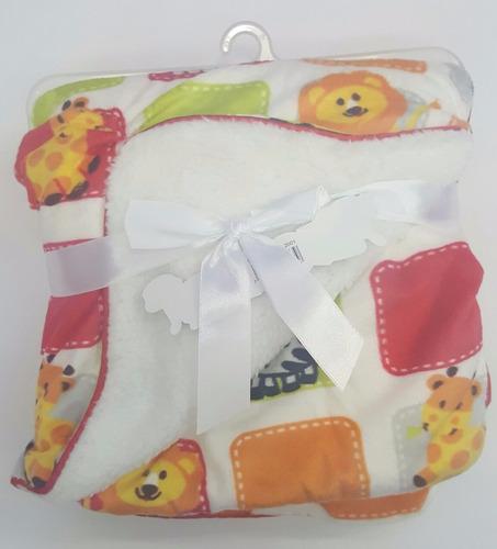cobija manta cobertor termica tipo sherpa bebe antialergica
