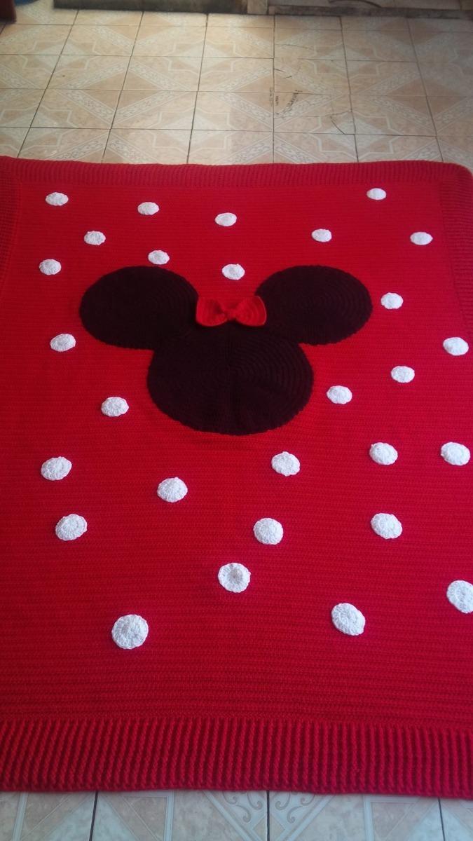 Cobija Mickey Mouse Tejida A Mano -   420.00 en Mercado Libre 5ac16e13e0f