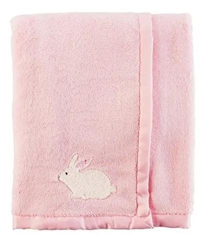 cobija suave para bebe 100 % algodon, conejo