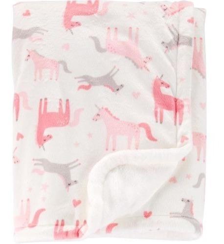 cobija suave para bebe 100 % algodon, unicornio