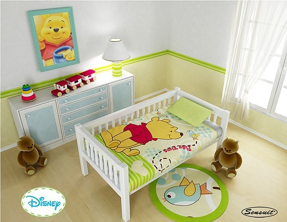 Cobija t rmica disney baby cobertor mikey minie winny pooh for Cuarto winnie pooh