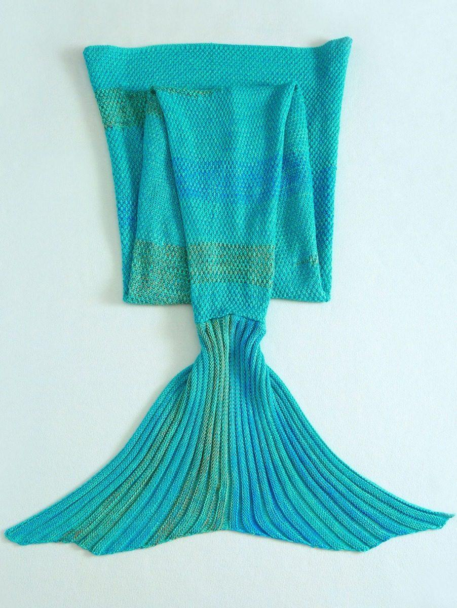 Cobijas Tejidas Crochet Manta Cola De Sirena Para Mujer - $ 547.00 ...