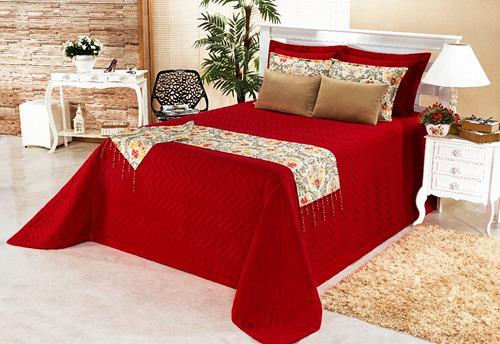 cobre leito casal queen com xale vermelho e + cores pág: 02