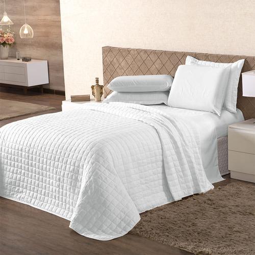 cobre leito colcha casal queen liso hotel 160 fios algodao