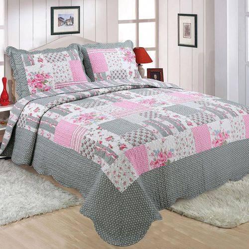 cobre leito colcha microfibra lana casal realce top sultan