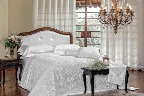 cobre leito king 3 peças constantine 600 fios branco
