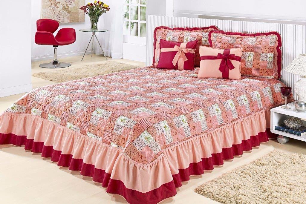 Cobre leito casal queen kit sofisticata 7 pc colcha - Colchas de cama modernas ...