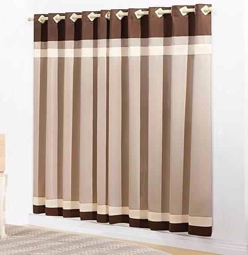 cobre leito stylo bege marrom menino + cortina 2 metros
