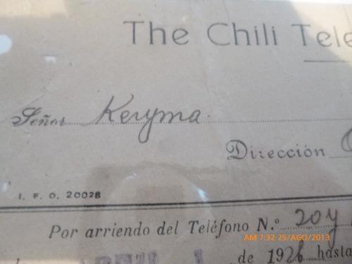 cobro the chili  telephone co .ltd  a oficina keryma