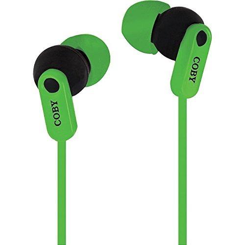 coby cv-e108grn auriculares estéreo sin enredo tangle free