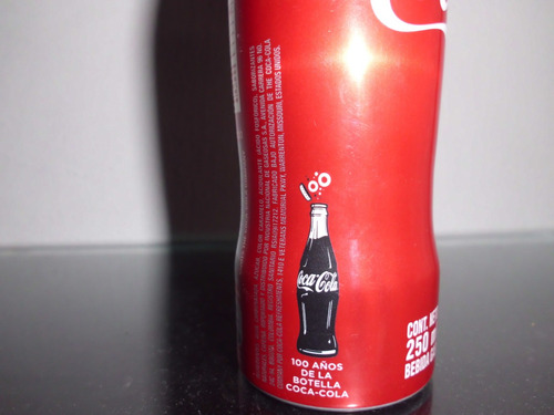 coca cola 100 años ,botella en aluminio llena  ed.especial