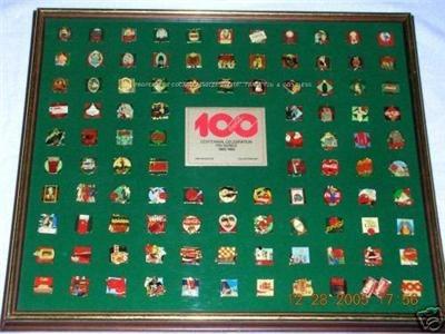 coca cola coleccion pines centenario de coca cola