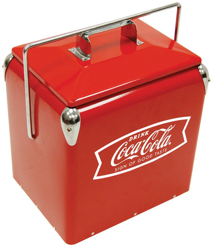 coca cola cooler nevera hielera coleccion retro camping