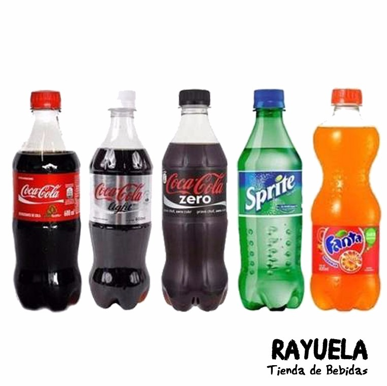 coca cola, light, zero, fanta y sprite 600 ml - zona norte. - $ 23