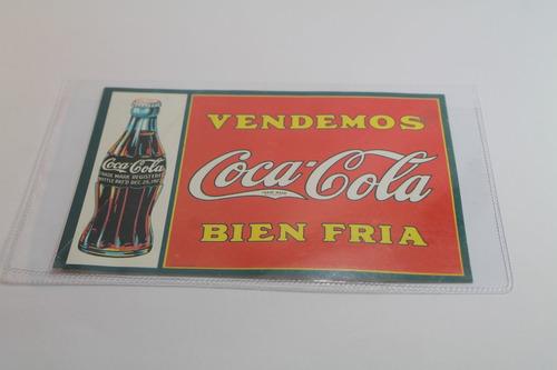 coca cola tarjeta reedicion publicidad antigua