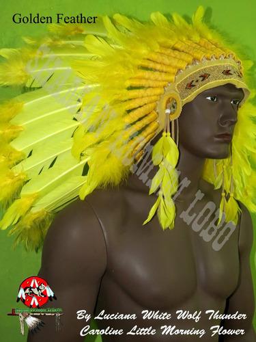 cocar indigena americano penacho umbanda xamanismo xamã