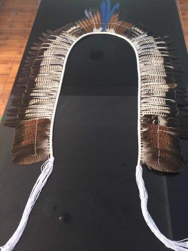 cocar indígena gavião real 2,2m- 100% naturaetnia fulni-ô