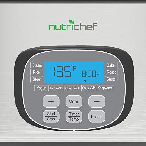 cocedor de cocción lenta eléctrica de nutrichef - olla de