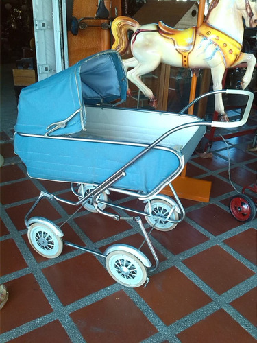 coche antiguo metalico con amortiguacion made in u.s.a