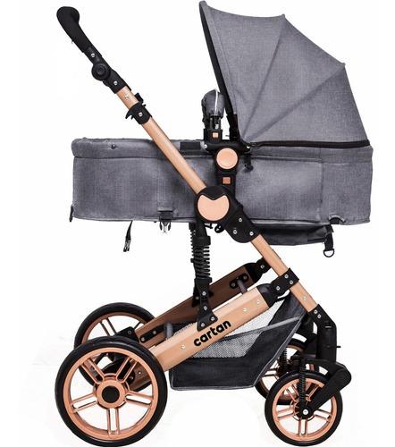 coche bebe convertible en asiento y moises cuna muy seguro estructura resistente tapizado de calidad plegable liviano