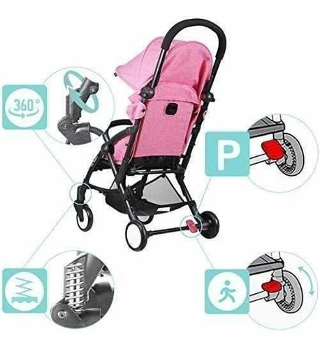 coche bebe paseador portable liviano rosado envio gratis