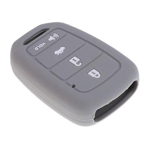 coche clave fob protector silicona caso cubierta 4 botones p