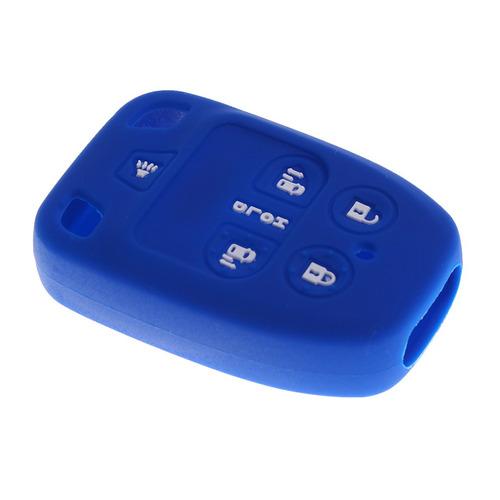 coche clave fob protector silicona caso cubierta 6 botones p