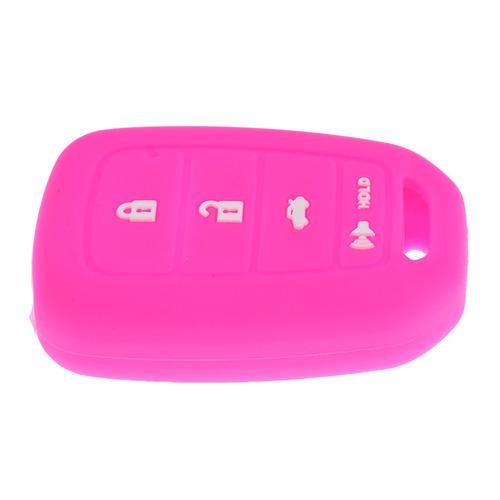 coche clave fob protector silicona cubierta caso 4 botones p