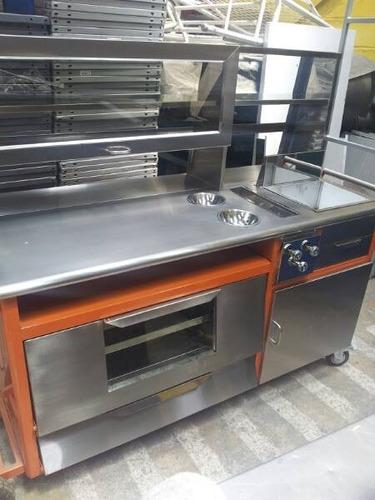 coche con horno y freidora comida rapida