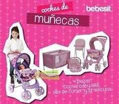 coche + cuna + babysilla+ silla comer para muñecas. bebesit
