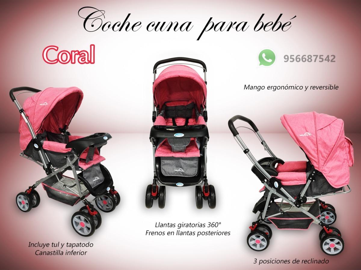 4165e1b05 Coche Cuna Para Bebé 3 Posiciones Exclusivo Nuevo Caja - S/ 299,99 en  Mercado Libre