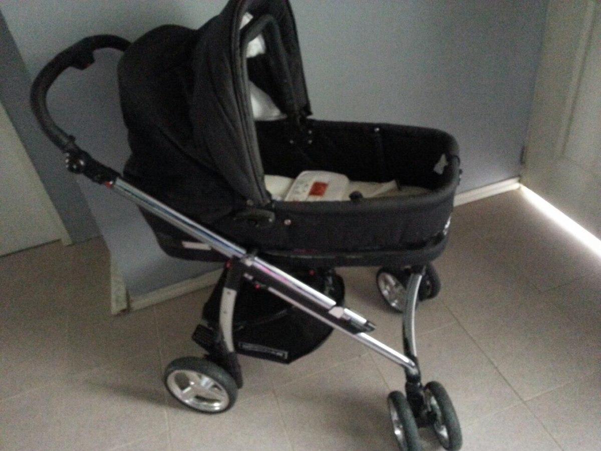 Coche de bebe cromado con capazo cuna silla importado for Precio de silla bebe para coche