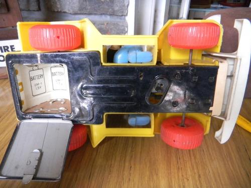 coche de chapa y plastico payaso marca alps antiguo