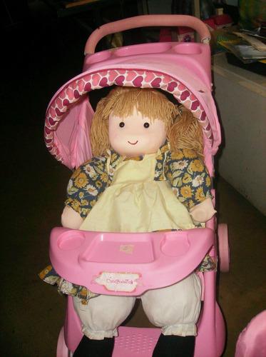 coche de juguete c/muñeca. combo completo ideal dia del niño