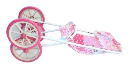coche de paseo para muñecas berlina plegable metalico
