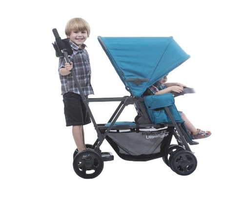 coche doble bebe, joovy caboose ultralight graphite, black