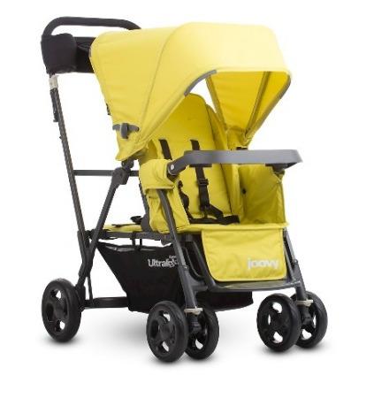 coche doble bebe, joovy caboose ultralight graphite, citron