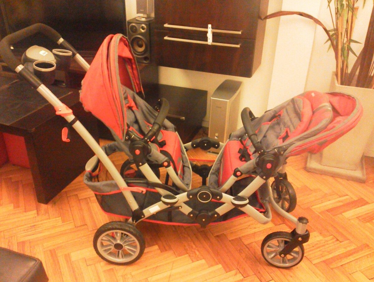 1cc57447d Coche Doble Infanti Duo Ride Para Mellizos O Hermanos - $ 5.500,00 ...
