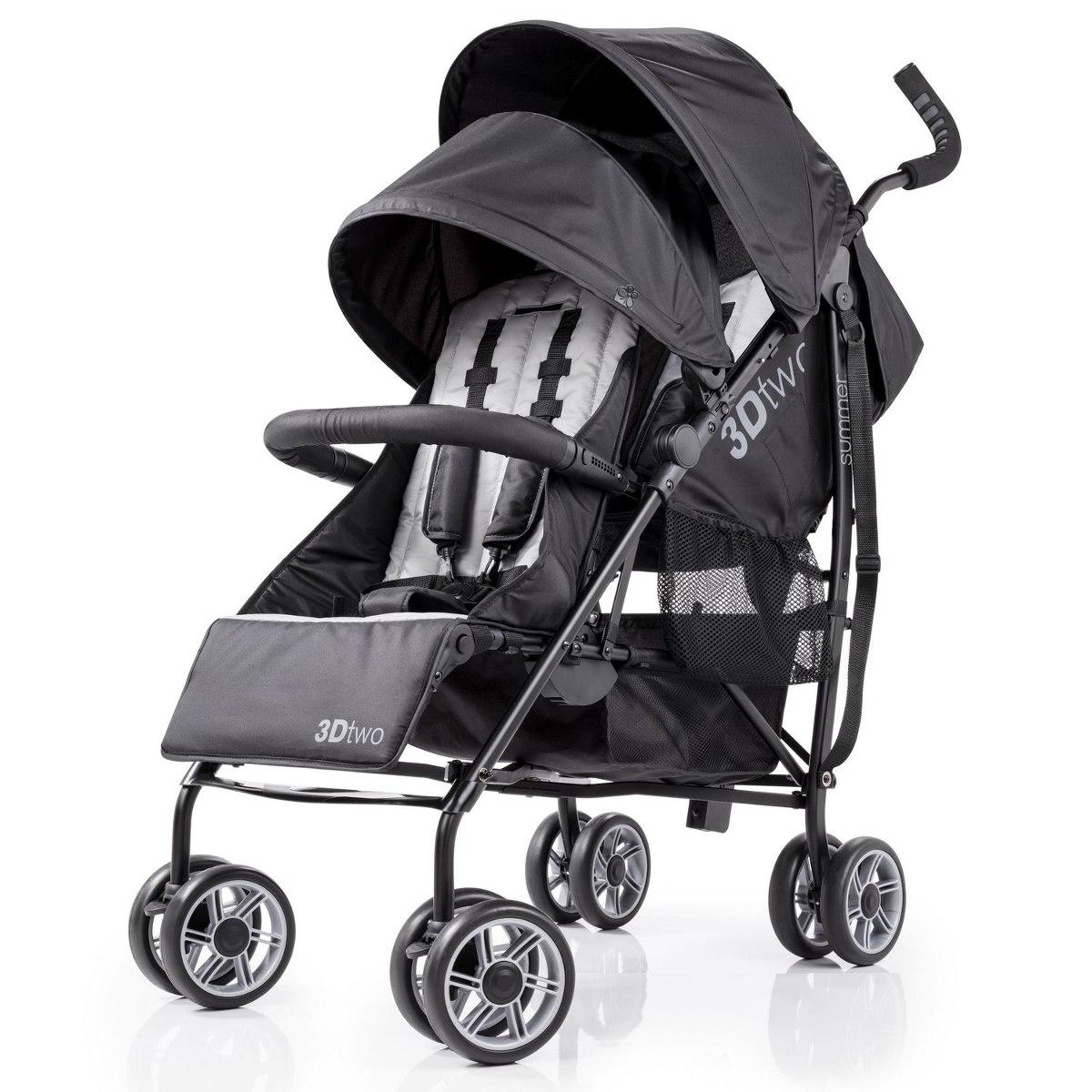 cf31a57c5 Coche Doble Para Bebé Summer Infant 32183 Color Negro - $ 969.111 en ...