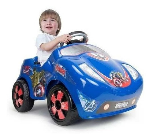 coche electrico montable infantil fire avengers 6v injusa