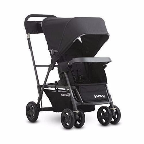 coche gemelos asiento  bebe, joovy caboose ultralight negro